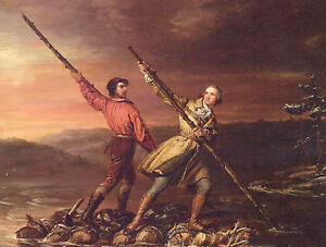 Oil Daniel Huntington George Washington and Christopher Gist on the Allegheny $81.59