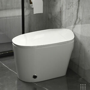 Elongated One Piece Electronic Toilet With Advance Bidet And Soft Closing Seat $328.33