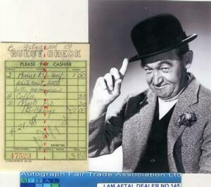 Barry Fitzgerald vintage signed Restaurant check The Quiet Man AFTAL#145 GBP 74.99