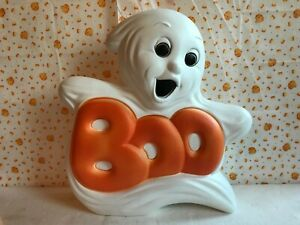 """Halloween Decoration Boo Ghost Light Up Plastic Smaller 14"""" Inches $29.00"""