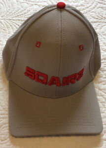 SQAIRZ Gray and Red adjustable Square Bill Hat $14.00