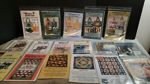 vintage lot of 18 purse tote quilts sewing quilting crafting applique patterns $25.00