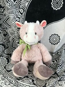 Animal Adventure 2017 Green Dot Bow Brown Cow Lovey Plush 20� FREE SHIPPING $24.99
