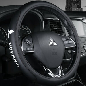 15 Car Steering Wheel Cover Genuine Leather For Mitsubishi Black $41.99