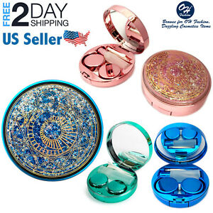 5PCs Contact Lenses Travel Kit Cute Cosmos Storage Box Holder Mirror Container $4.99