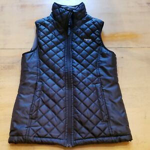 Hind Black Quilted Puffer Fleece Lined Vest Womens Sz M $18.99