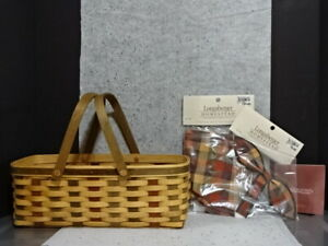 2007 LONGABERGER ACT AMERICAN CRAFT TRADITIONS WOVEN MEMORIES BASKET LINER TIEON $59.99