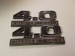 NEW 4.0 NITROUS INJECTED EMBLEMS BLACK 5