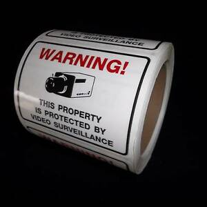 LOT SECURITY SURVEILLANCE CCTV CAMERA WARNING STICKERS