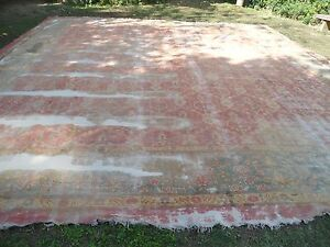 antique agra indian floral square 20x20 pink carpet area rug carpet hand knotted