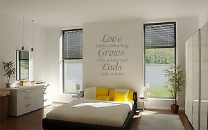 Love Starts with vinyl wall decal