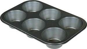 6 Cup Jumbo Muffin Pan Non Stick Bakeware Baking Muffins New