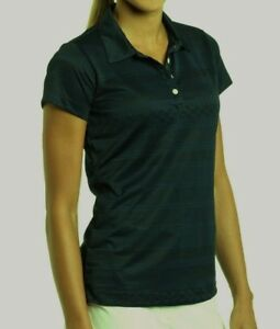 NEW Womens Sz L NIKE GOLF Dark Green Jacquard Textured DRI FIT SS Polo Shirt LG
