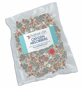 50 x 100cc PackFreshUSA OXYGEN ABSORBERS for Long Term Food Storage