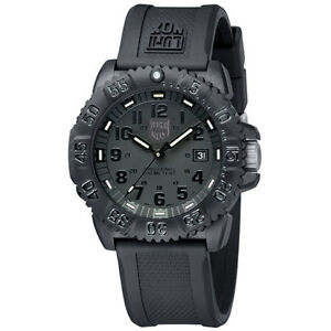 EMS Free ! NEW Luminox Colormark Navy Seals 3051 BO Blackout Sports Divers Watch