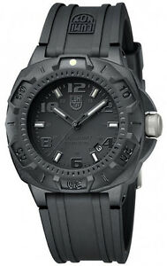 EMS FREE Luminox NIGHT VIEW SENTRY 0201.BO Blackout Sports Divers Mens Watch NEW