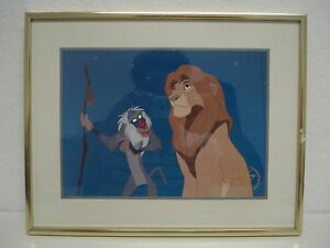 DISNEY'S THE LION KING 1995 FRAMED EXCLUSIVE COMMEMORATIVE LITHOGRAPH