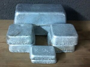5+ Pounds clean HARD Lead Ingots for bullets or sinkers