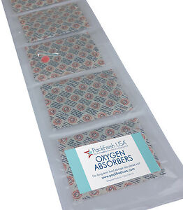 2000cc PackFreshUSA Oxygen Absorbers INDIVIDUALLY SEALED Long Term Food Storage