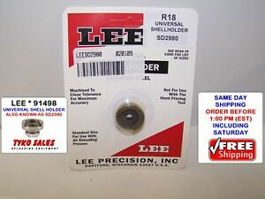 LEE SD2980 *  LEE PRECISION UNIVERSAL SHELL HOLDER SD2980 * R18 * 43 MAUSER