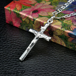 Real sterling silver .925 Cross pendant with 20