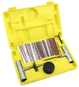35pcs Tire Repair Tool Kit Case Plug Patching Tubeless Tires Insert Spiral Hex $13.95