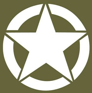 Military Army Star Vinyl Decal Sticker
