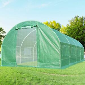 Quictent 20#x27;x10#x27;x7#x27; 2 Doors Portable Greenhouse Large Green Garden Hot House