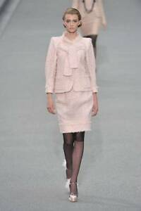 CHANEL New with Tags 09P Pale Pink Lesage Jacket with Sequins 44