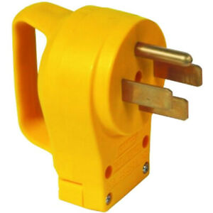 Camco Power Grip Series™ 50-Amp (Straight Blade) Replacement Plug