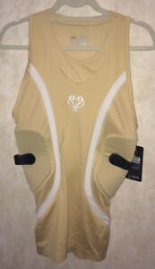 UNDER ARMOUR MPZ Gameday Padded Basketball Compression Tank Top GOLD NEW Mens M