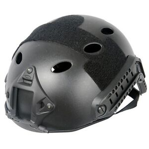 Lancer Tactical CA-725B Airsoft FAST Helmet Vented w Rails and NVG Shroud Black