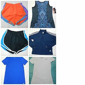 WOMENS athletic CLOTHES LOT = SIZE XS nike running shorts JACKET t shirts = ss12