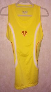 UNDER ARMOUR MPZ Gameday Pad Basketball Compression Tank Top YELLOW NEW Men L XL