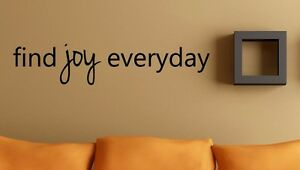 Find Joy Everyday Wall Vinyl Decal Sticker Family Kids Room Love Home Happy