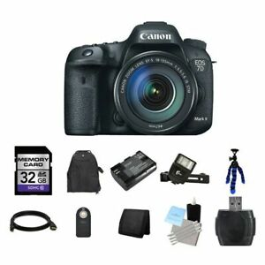 Canon EOS 7D Mark II DSLR Camera w18-135mm Lens 32GB Full Kit
