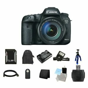 Canon EOS 7D Mark II 20.2MP Digital SLR Camera w18-135mm Lens 64GB Full Kit