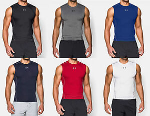 Under Armour Men's UA HeatGear Sonic Sleeveless Compression Shirt Workout Tank $24.99