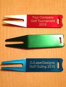 Qty 1- Personalized Anodized Aluminum Golf Divot - Engraved