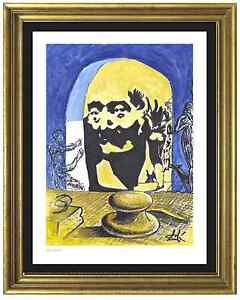 Salvador Dali Signed Hand Numbered Ltd Ed quot;Bust Voltairequot; Litho Print unframed $69.99