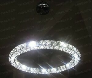 New luxury Modern LED Round Crystal Pendant Lamp Ring Ceiling Light Lighting Bar $94.99