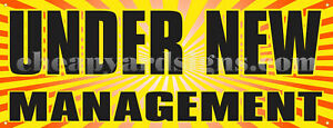 12quot; Under New Management Sticker Retail Business Store Outdoor Decal Sign $9.49