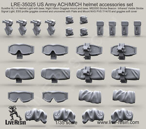 Live Resin 135 LRE-35025 US Army ACHMICH helmet Accessories Set