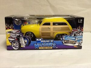 new 1 18 die cast 50 ford woody yellow