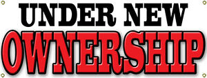 Custom UNDER NEW OWNERSHIP BANNER SIGN New Business Owner Store Shop $18.49