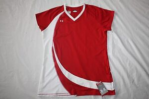 WOMENS SHIRT TOP SPORTS ATHLETIC = UNDER ARMOUR = SIZE XL = red = ME42