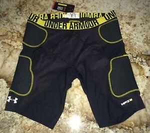NEW Mens Sz 3XL UNDER ARMOUR MPZ Heatgear Gameday Black Padded Basketball Shorts