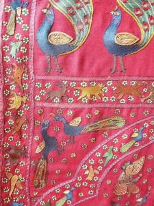 Rare Indian Paisley Patka embroidered by the Mochi community 19c