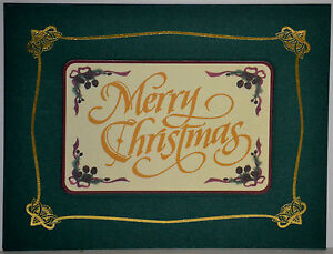 Set of 12 MAGNETIC CARDS Christmas Greetings