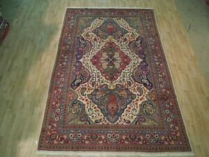 UNIQUE DESIGN Fine ART WORK Hand Knotted 8' x 10' Rug Persian Iranian Carpet